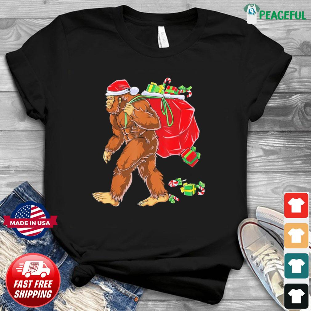 Santa Bigfoot Christmas Sweatshirt