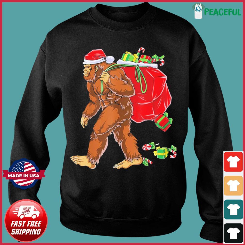 Santa Bigfoot Christmas Sweats Sweater