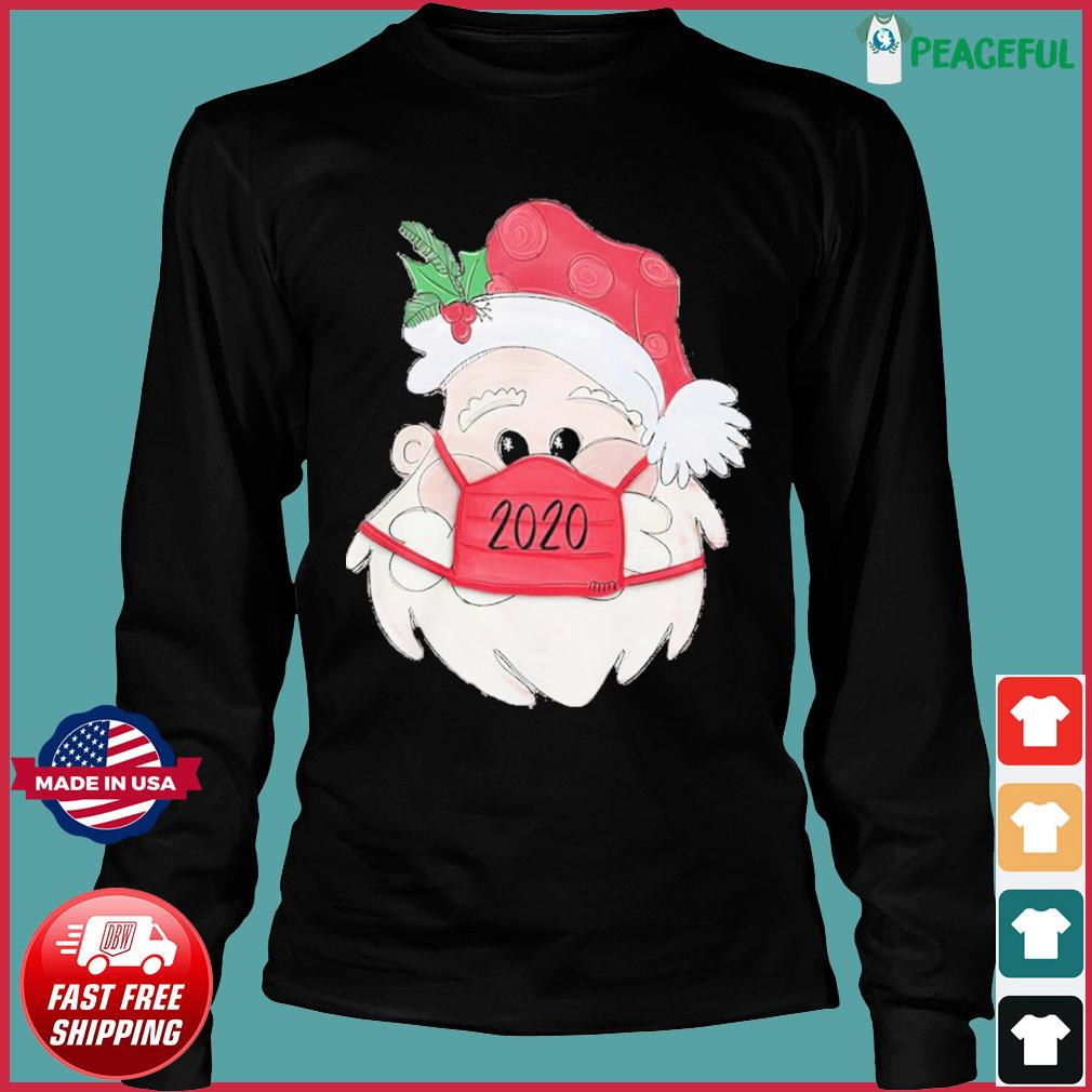 Santa Claus Face Mask 2020 Christmas Sweats Long Sleeve