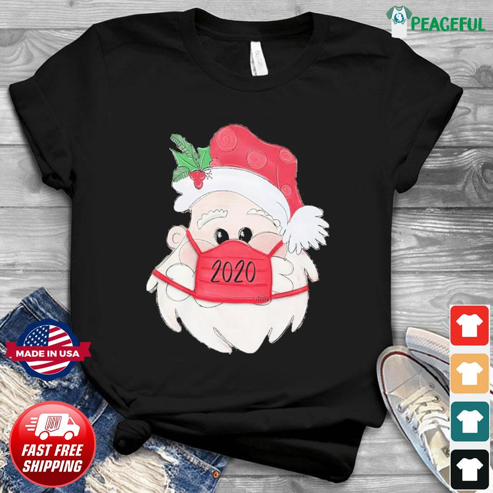 Santa Claus Face Mask 2020 Christmas Sweatshirt
