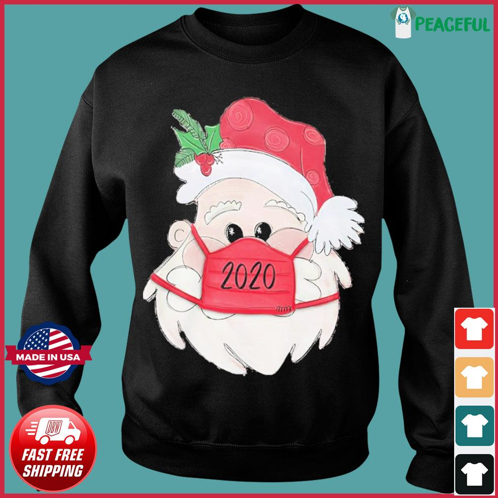 Santa Claus Face Mask 2020 Christmas Sweats Sweater