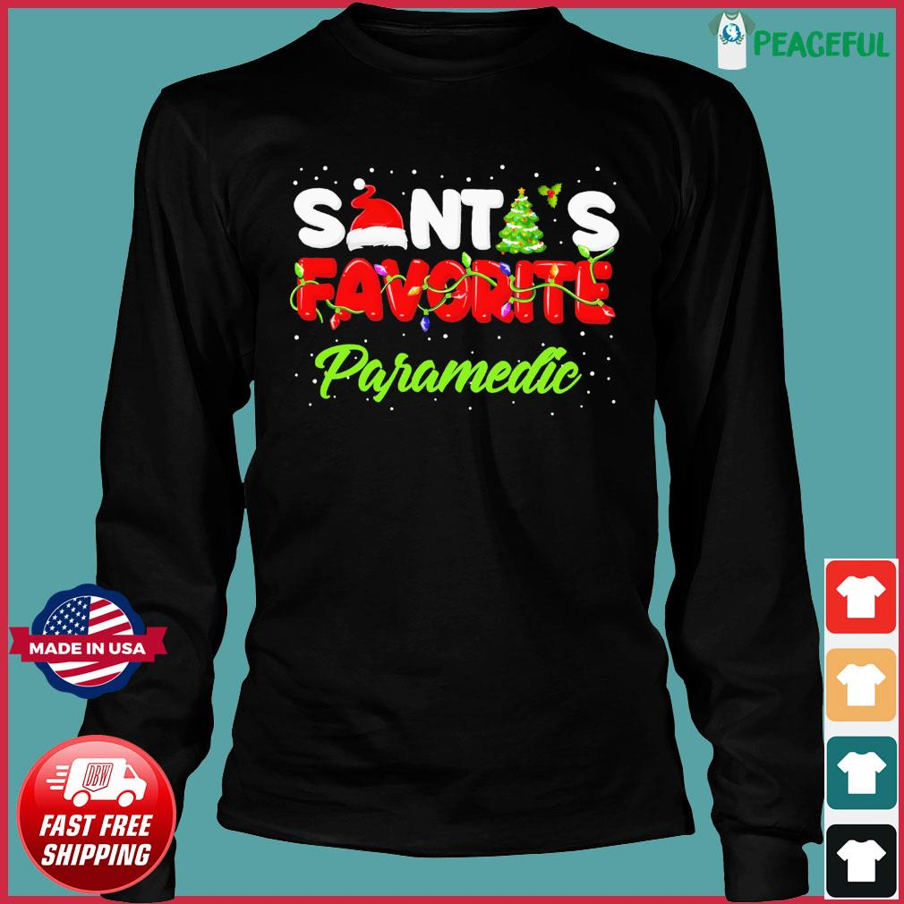 Santa's Favorite Paramedic Christmas Sweats Long Sleeve