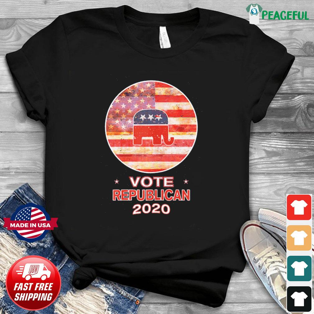 Vote Republican 2020 US FLag T-Shirt