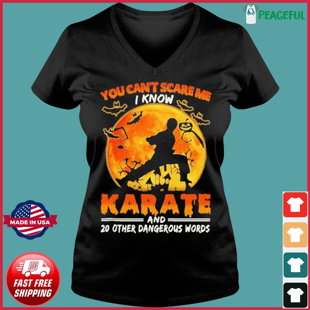 You Can't Scare Me I Know Karate And 20 Other Dangerous Words s Ladies V-neck Tee