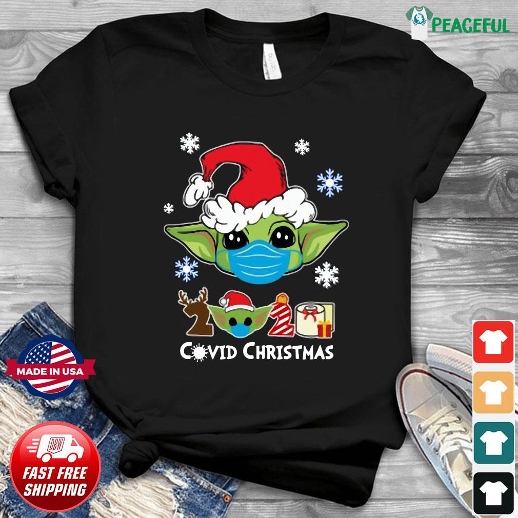 Santa Baby Yoda Face Mask 2020 Toilet Paper Covid 19 Christmas Sweats Shirt
