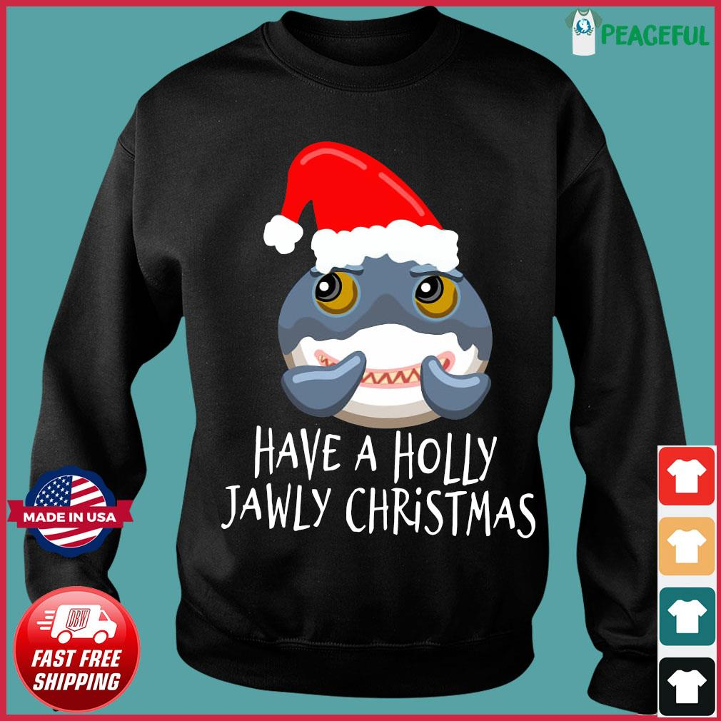 Santa Shark Have A Holly Jawly Christmas Sweatshirt