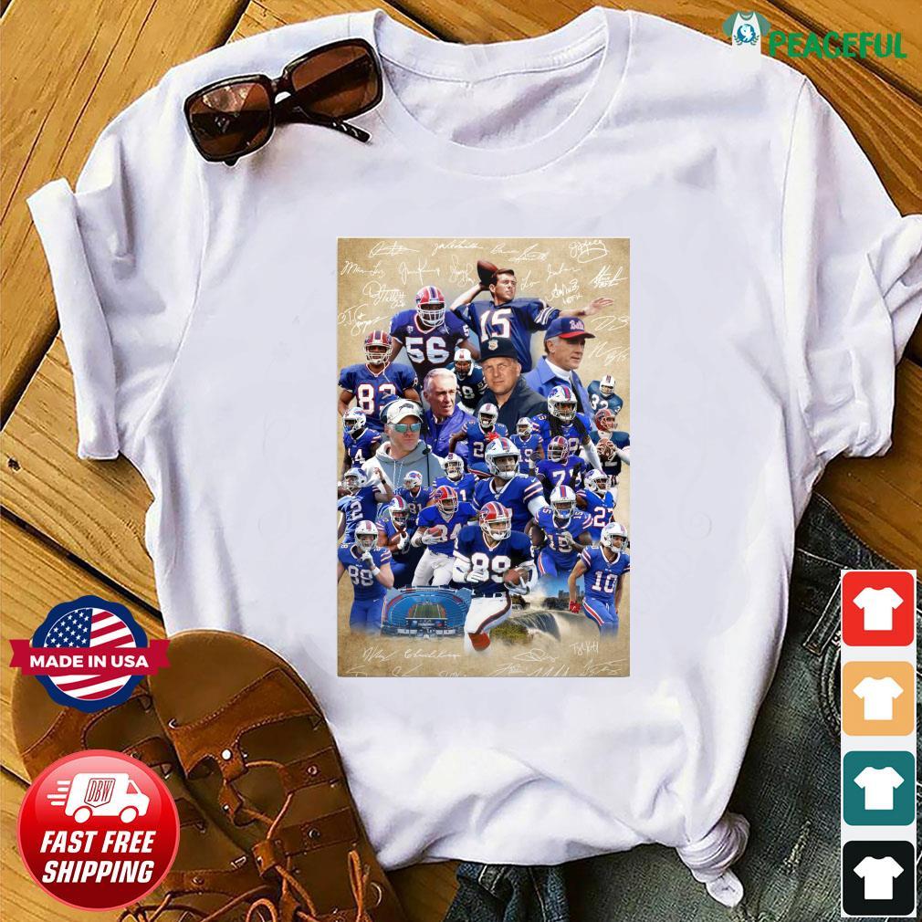 The Buffalo Bills Team Football Full Players 2021 Signatures Shirt
